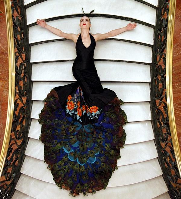 Påfuglekjolen, Flamenco Festival, Guggenheim Museum, New York, 2010